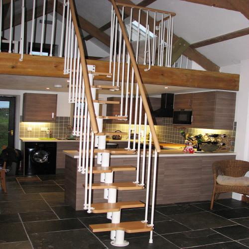 Space saver staircase & balustrade